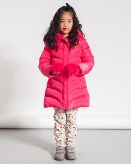 Ciepła zimowa kurtka dla dziewczynki 92-128 GMA-4433 róż