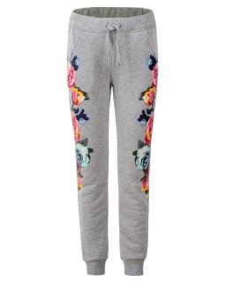 Dziewczęce spodnie dresowe 134 - 146 GRT-4901 Szary