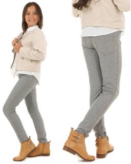 Dziewczęce tregginsy na gumce 116-158 KRP98 szare