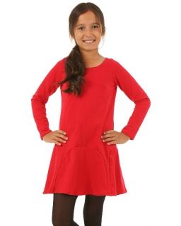Sukienka z rozkloszowanym dołem 116-158 KRP90 czerwony