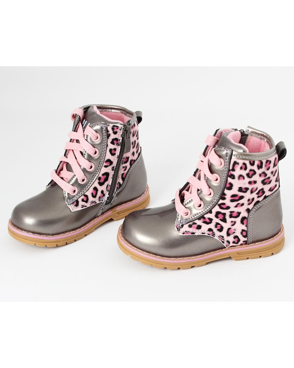 jesienne buty dla dziewczynki 2126 19clb srebro plus r243ż