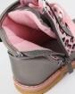 Jesienne buty dla dziewczynki 21-26 19/CLB Srebro plus róż
