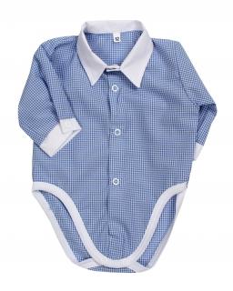 Body koszula dla chłopca 62 - 80 BD01 niebieski