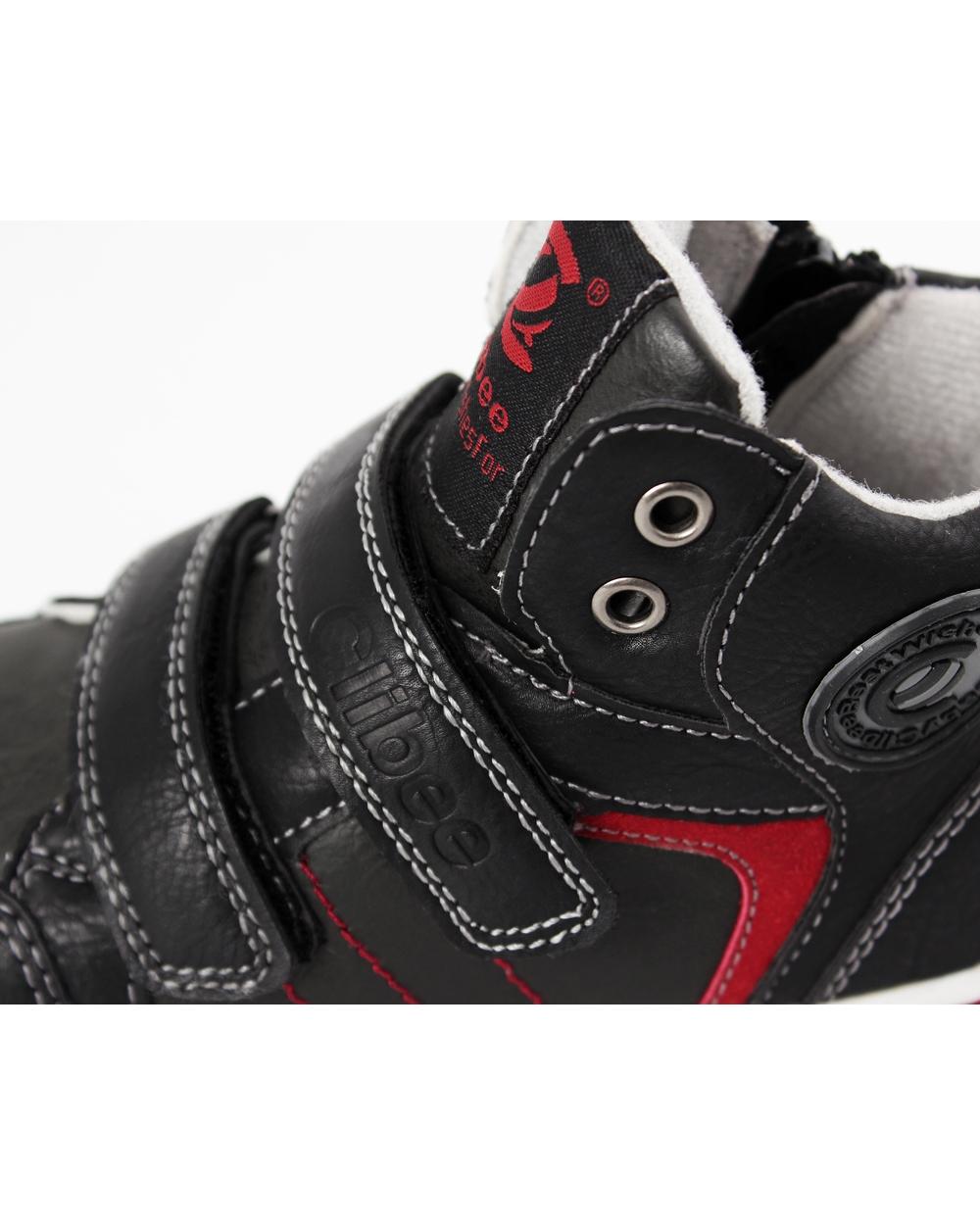Chłopięce trampki z modnymi wstawkami 27 32 21CLB czarny