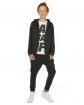 Chłopięca bluza z kapturem 116-158 KRP85 czarna