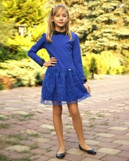 Elegancka sukienka z gipiurą 92-140 Klara chaber