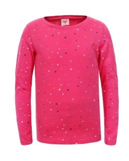 Bluzka w gwiazdki dla dziewczynki 98-110 GCX-4614 Róż