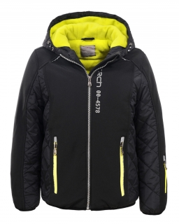 Jesienna ocieplana kurtka chłopięca 134-170 BMA-4833 czarny