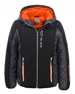 Przejściowa chłopięca kurtka 134-170 BMA-4833 czarny plus grafit