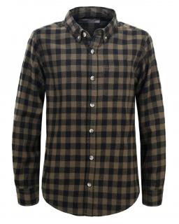 Sportowa koszula do jeansów 134-146 BCS-4831 czarny plus zielony