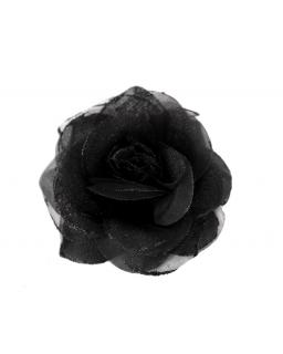 Róża z brokatem KW05 Czarny