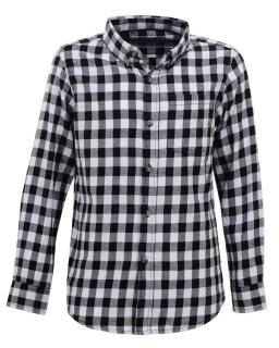 Flanelowa koszula w kratkę 158-164 BCS-4831 czarny plus biały