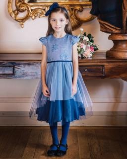 Tiulowa sukienka dziewczęca 98 - 140 Aurelia granat