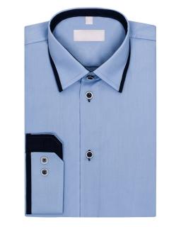 Koszula z długim rękawem 116-172 KS19 Jasnoniebieski