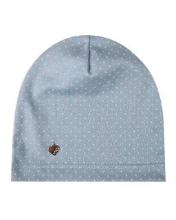 Przejściowa cienka czapka w kropki 48-50 GBO-02 szary