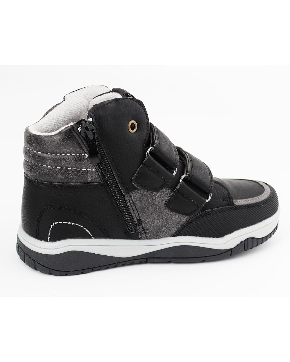 Wyższe buty dla chłopca 33 38 35CLB czarne