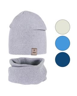 Komplet chłopięcy czapka i komin 48-50 GBO-04 mix