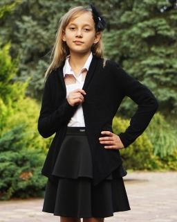 Elegancki sweter - narzutka 122-164 501a/SZK czarny