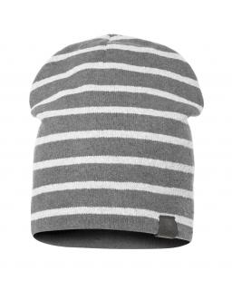 Dwustronna czapka dla chłopca 51-55 BRL01 Szary
