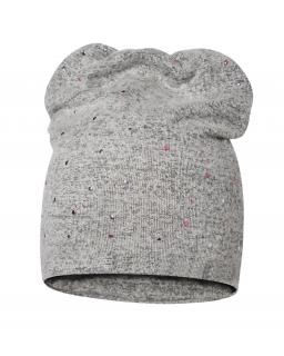 Dziewczęca czapka z błyskotkami 47-51 BRL04 szary