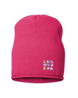 Przejściowa czapka z mieniącym napisem 50-52 BRL06 51/56 róż