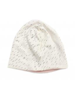 Przejściowa czapka ze srebrnym wzorkiem 50-52 GBO-06 ecru