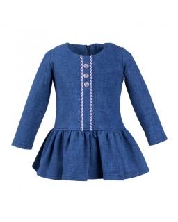 Sukienka z falbanka dla dziewczynki 80-110 Lisa niebieski