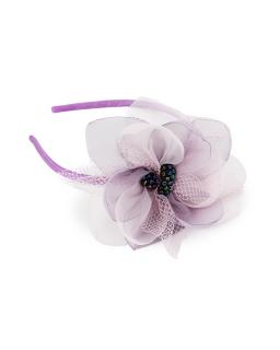 Opaska z dużym kwiatem OP77 fiolet