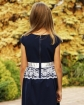Elegancka sukienka z koronką 62-152 Aleksandra granat