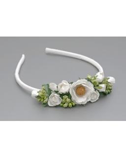 Opaska z kwiatami dla dziewczynki OP33