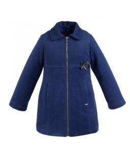 Stylowy płaszcz dla dziewczynki 134 - 152 Lara granat