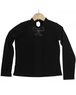 Bluzka półgolf z długim rękawem 116-146 Loren czarny