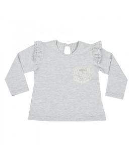 Bluzka z falbankami 80-104 Oleńka szary