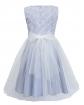 Sukienka z wystawnym dołem 122-146 1B/JSN niebieski