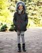 Kurtka parka dla dziewczynki 134-164 Dominika khaki