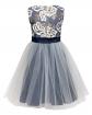 Sukienka z tiulowym dołem 134-158 2A/JSN Niebieski