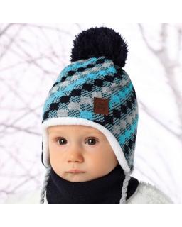 Komplet czapka plus chustka na zimę 34-322