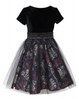 Wizytowa sukienka 140-164 10B/JSN Czerń