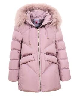Pikowana zimowa kurtka 134-170 GMA-4432 róż