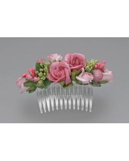 Stroik z różowych kwiatów ST22
