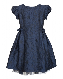 Koronkowa sukienka dziewczęca 128-158 28/JSN granat