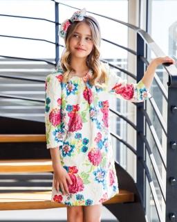Futerkowa sukienka 128-158 29/JSN multikolor