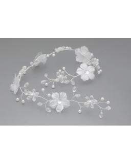 Biała gałązka z kwiatami G17