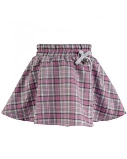 Spódnica w kratkę dla dziewczynki 92-122 Dolly róż