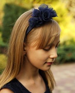 Granatowa opaska do włosów OP78