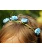 Kwiecista opaska na gumce LP21 Niebieski