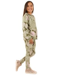 Spodnie baggy z nadrukiem116-158 KRP103 oliwka