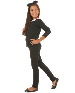 Spodnie rurki dla dziewczynki 116-158 KRP11 Czarny