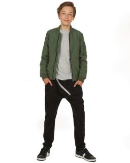 Dresowe spodnie baggy dla chłopca 116-158 KRP116 czarny