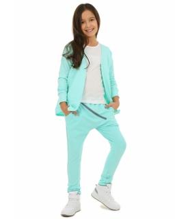 Spodnie baggy dla dziewczynki 116-158 KRP117 mięta